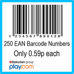 250 PlayTrade EAN UPC Barcode Numbers