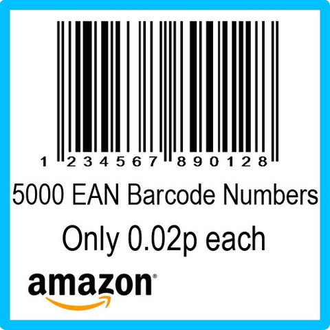 5000 Amazon EAN UPC Barcode Numbers