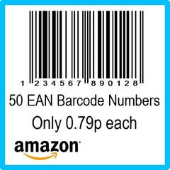 50 Amazon EAN UPC Barcode Numbers