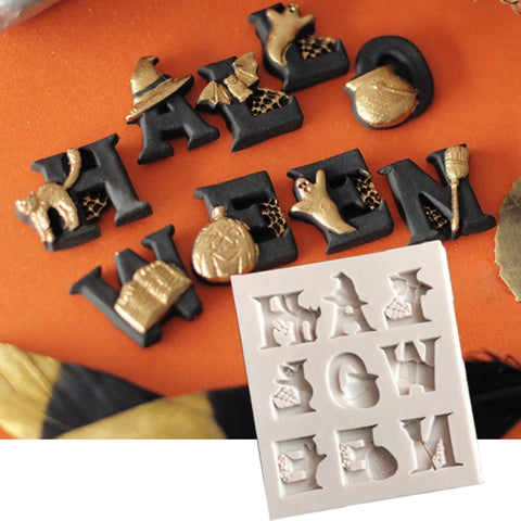 Halloween Letter Baking Mold