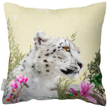 Outdoor Waterproof Garden Cushion - Majestic Snow Leopard
