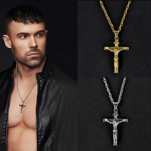 Christian Crucifix Jesus Cross  Pendant Necklace