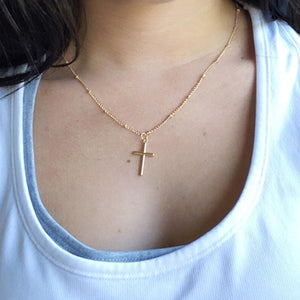 Gold Chain Cross Necklace