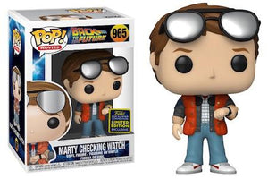 Back to the Future - Marty checking watch SDCC 2020 Exclusive Pop! Vinyl Figure