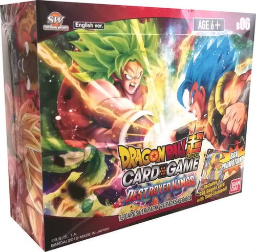 Dragon Ball Super Card Game Series 6 Destroyer Kings Booster Pack Box [DBS-B06] with 24 Booster Packs
