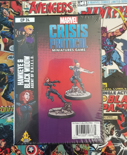 Marvel Crisis Protocol - Hawkeye and Black Widow (Release 15th May)