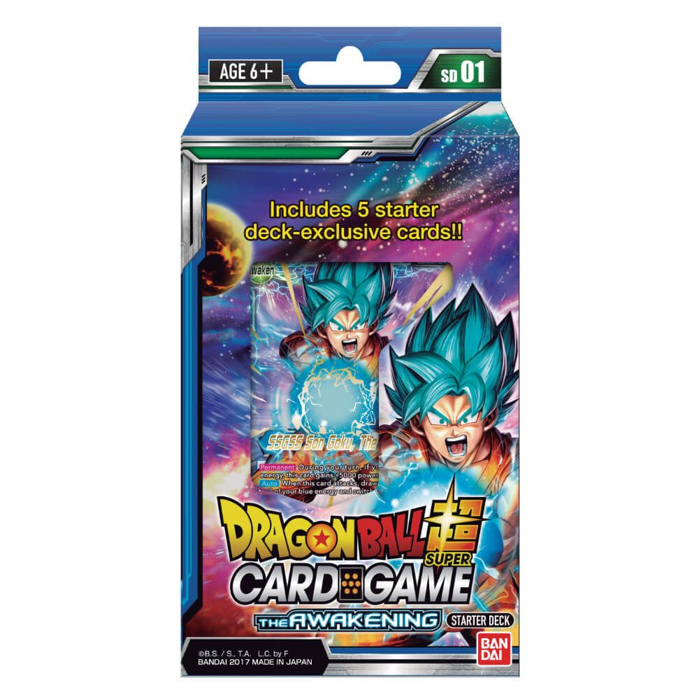 Dragon Ball Super Card Game The Awakening Starter Deck and Rule Sheet [DBS-SD01]
