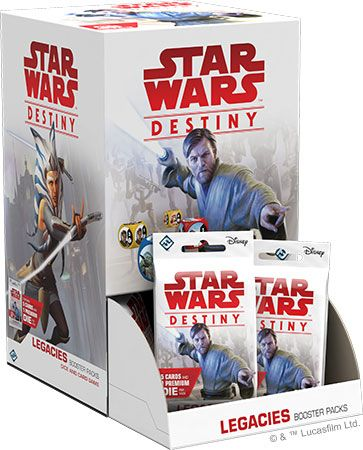 Star Wars Destiny Legacies Booster Box with 36 Booster Packs