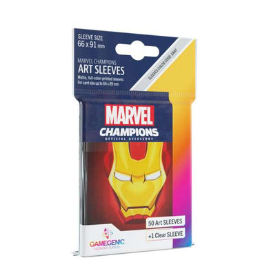 GameGenic Marvel Champions Art Card Sleeves - Iron Man Card Sleeves (66mm x 91mm) (50 Sleeves)
