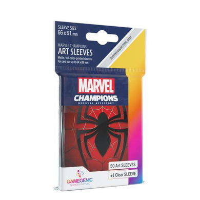 GameGenic Marvel Champions Art Card Sleeves - Spider-Man Card Sleeves (66mm x 91mm) (50 Sleeves)