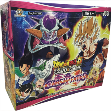 Dragon Ball Super Card Game Clash of Fates Booster Box [DBS-TB03] with 24 Booster Packs