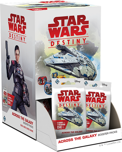 Star Wars Destiny Across the Galaxy Booster Box with 36 Booster Packs