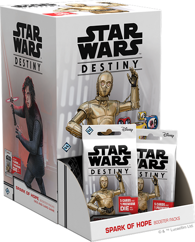 Star Wars Destiny Spark of Hope Booster Display with 36 Booster Packs