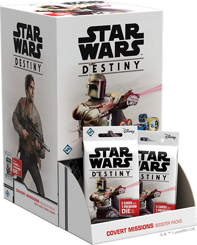 PREORDER Star Wars Destiny Covert Missions Booster Box with 36 Booster Packs