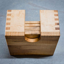 Load image into Gallery viewer, Rustic Maple Coasters