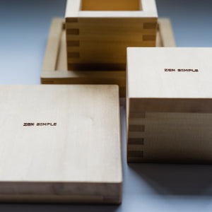 Masu Box with Tray and Glass (offered as a set of 2)