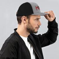 HOUSE-MUSIC-Trucker Cap-rd-bk-gr
