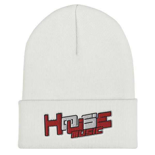 HOUSE-MUSIC r/w-Cuffed Beanie