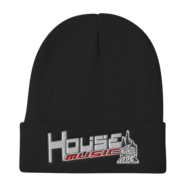 HOUSE-MUSIC-ABC Embroidered Beanie
