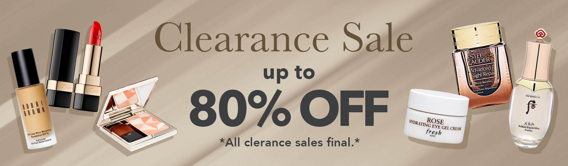 Clearance Sale Page Banner