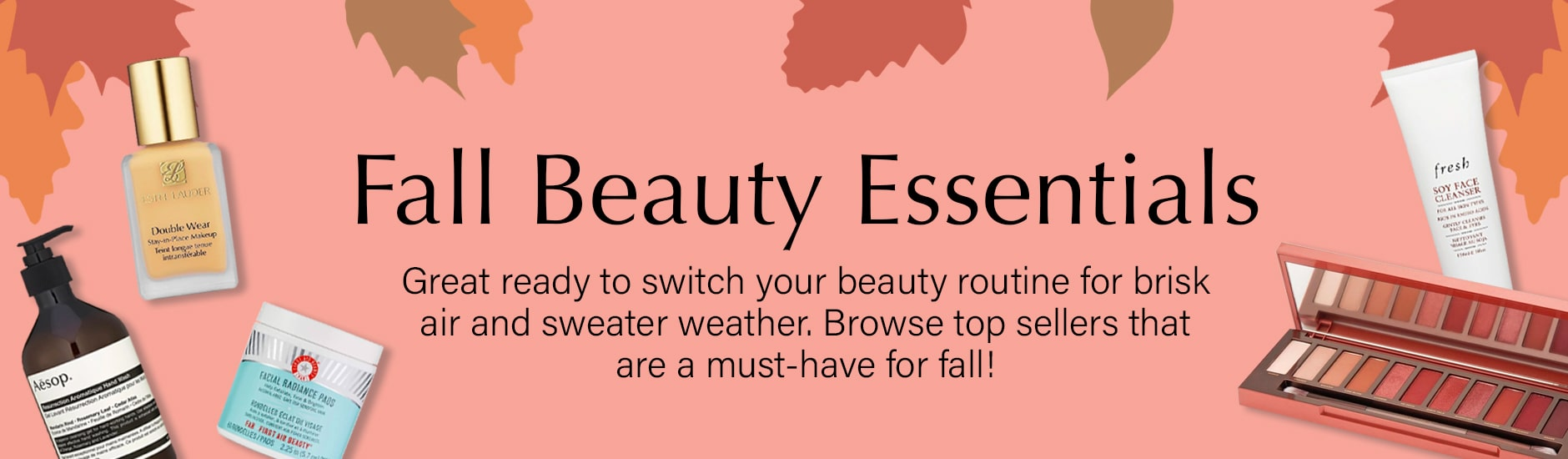 Kalista Beauty Fall Beauty Essentials Collection Banner