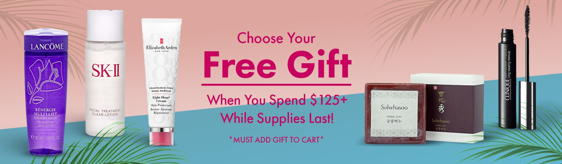 Free Gift With Purchase Banner