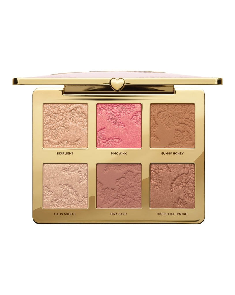 Natural Face Highlight, Blush and Bronzing Veil Face Palette - Too Faced