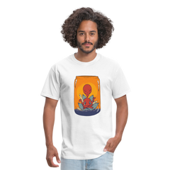 Meditating Alien in a Mug | Men's T-Shirt-Men's T-Shirt-get2shirts