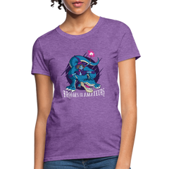 T-Shirt | Witch riding a t-rex-Women's T-Shirt-get2shirts