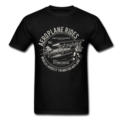 Aeroplane Rides Men Black White Regular Shirt S-6XL-Men's T-Shirt-get2shirts
