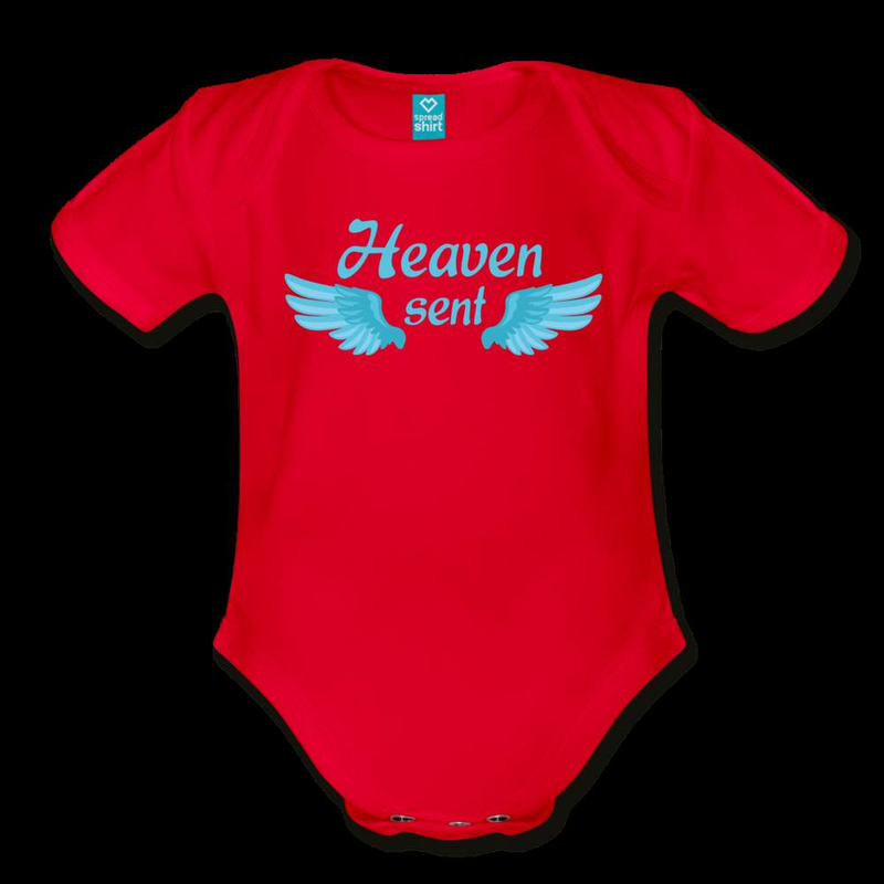 Bodysuit | Heaven sent-Organic Short Sleeve Baby Bodysuit-get2shirts