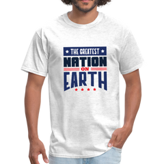 USA greatest nation on earth | Men's T-Shirt-Men's T-Shirt-get2shirts