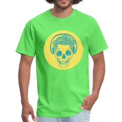 Skull with headphones | Men's T-Shirt-Men's T-Shirt-get2shirts