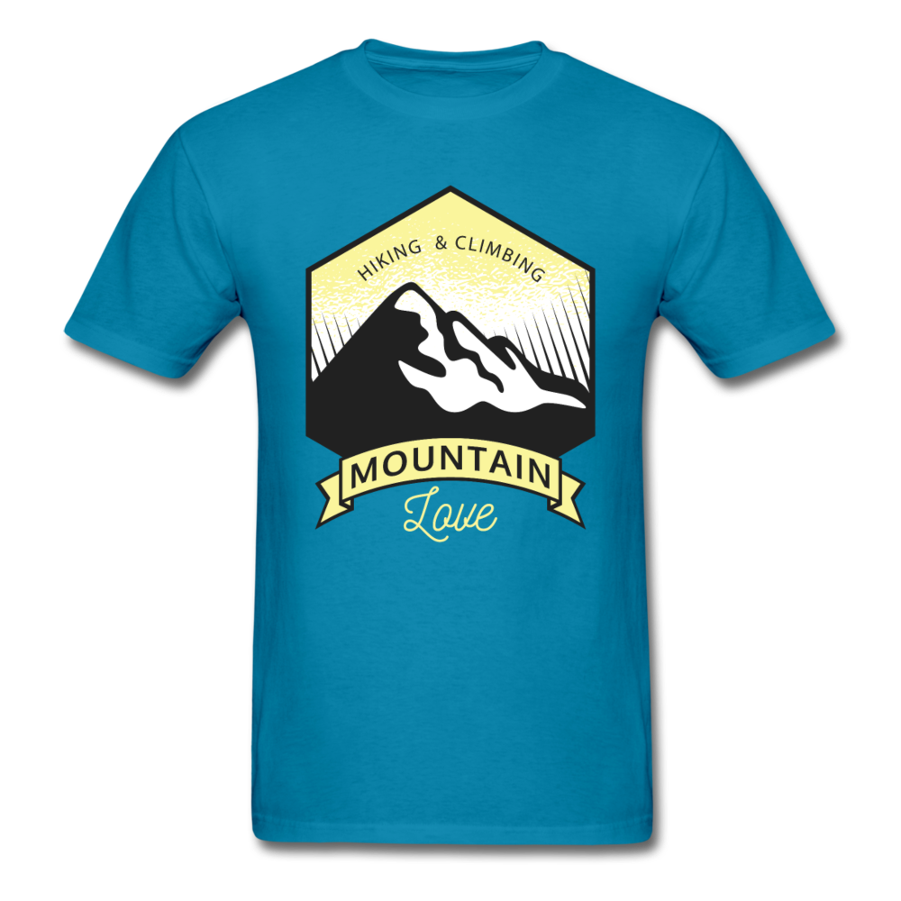 Mountain Love - Hiking & Climbing | Men's T-Shirt-Men's T-Shirt-get2shirts