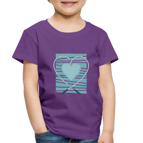Rope Love | Toddler Premium T-Shirt - purple