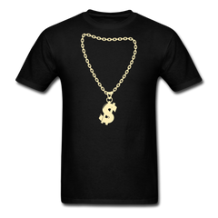 Rapper Dollar Necklace | Men's T-Shirt-Men's T-Shirt-get2shirts