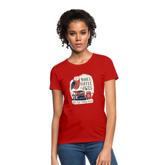 T-Shirt | Books coffee & owls-Women's T-Shirt-get2shirts