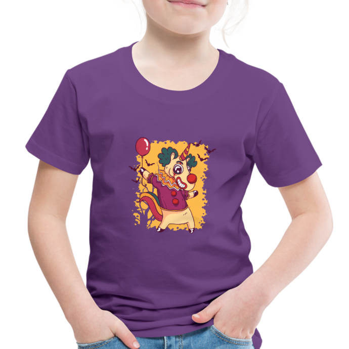 unicorn clown | Toddler Premium T-Shirt - purple