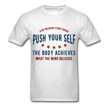 Load image into Gallery viewer, T-Shirt | Gym Push your self - light heather grey