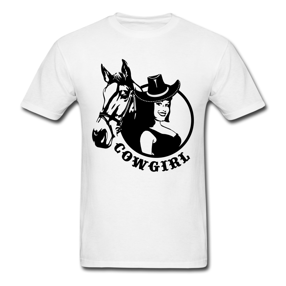 Girl with horse Cowgirl | Men's T-Shirt-Men's T-Shirt-get2shirts