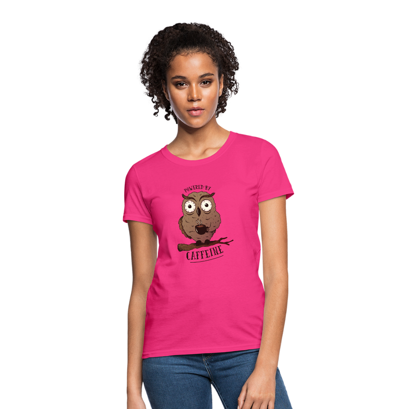 T-Shirt | owl powered by caffeine-Women's T-Shirt-get2shirts