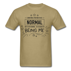 pretend normal | Men's T-Shirt-Men's T-Shirt-get2shirts