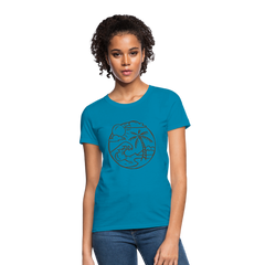 Beach Sun & Ocean Women Top T-Shirt-Women's T-Shirt-get2shirts