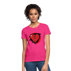 T-Shirt | heart with zipper-Women's T-Shirt-get2shirts
