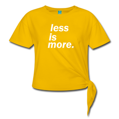 T-Shirt | less is more-Women's Knotted T-Shirt-get2shirts
