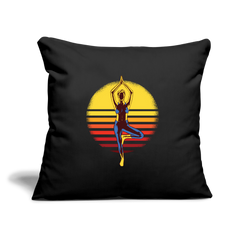"Pillow | Yoga Sunset-Throw Pillow Cover 18"" x 18""-get2shirts"