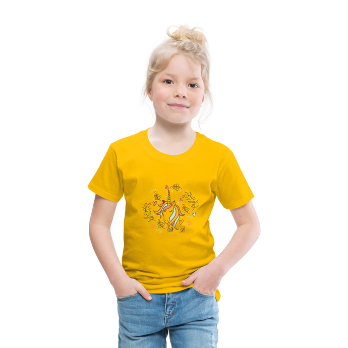 cute unicorn | Toddler Premium T-Shirt - sun yellow