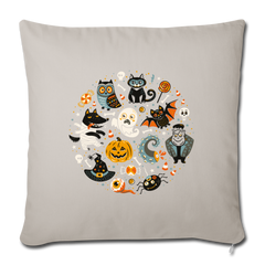 "Halloween Ghost Pumkin Monster | Throw Pillow Cover 18"" x 18""-Throw Pillow Cover 18"" x 18""-get2shirts"