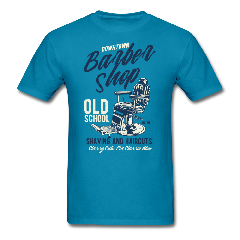 Downtown Barbershop - Old School | Men's T-Shirt-Men's T-Shirt-get2shirts