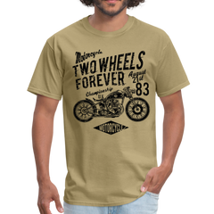 Motorcycle two wheels forever | Men's T-Shirt-Men's T-Shirt-get2shirts